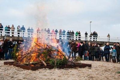 Osterfeuer Niendorf an der Ostsee 2017
